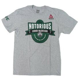UFC コナ—・マクレガー Tシャツ ザ・ノートリウス リーボック/Reebok グレー【1910価格変更】