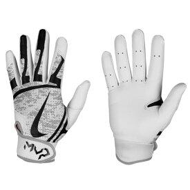 Nike BB ハイパーダイアモンド エッジ バッティング グローブ 手袋 ナイキ/Nike ホワイト ブラック N.BG.12.101.SL