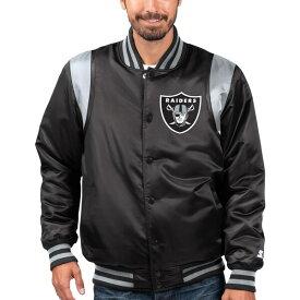 NFL セインツ ジャケット/アウター プライムタイム ツイル サテン バーシティ— フルスナップ STARTER