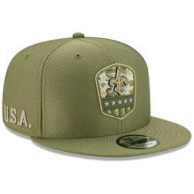 NFL セインツ キャップ/帽子 2019 サルート トゥ サービス サイドライン 9FIFTY ニューエラ/New Era オリーブ