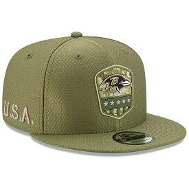 NFL レイブンズ キャップ/帽子 2019 サルート トゥ サービス サイドライン 9FIFTY ニューエラ/New Era オリーブ