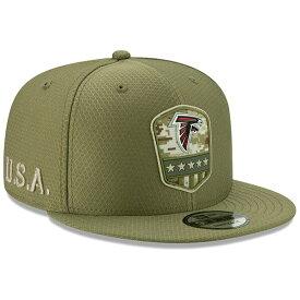 NFL ファルコンズ キャップ/帽子 2019 サルート トゥ サービス サイドライン 9FIFTY ニューエラ/New Era オリーブ