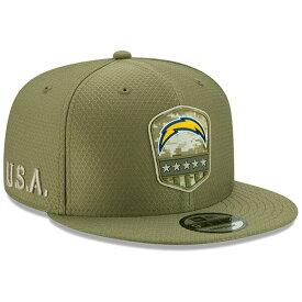 NFL チャージャース キャップ/帽子 2019 サルート トゥ サービス サイドライン 9FIFTY ニューエラ/New Era オリーブ