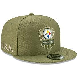 NFL スティーラーズ キャップ/帽子 2019 サルート トゥ サービス サイドライン 9FIFTY ニューエラ/New Era オリーブ