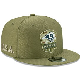 NFL ラムズ キャップ/帽子 2019 サルート トゥ サービス サイドライン 9FIFTY ニューエラ/New Era オリーブ