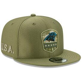 NFL パンサーズ キャップ/帽子 2019 サルート トゥ サービス サイドライン 9FIFTY ニューエラ/New Era オリーブ