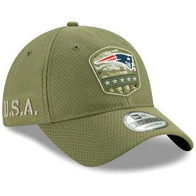 NFL ペイトリオッツ キャップ/帽子 2019 サルート トゥ サービス サイドライン 9TWENTY ニューエラ/New Era オリーブ
