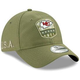 NFL チーフス キャップ/帽子 2019 サルート トゥ サービス サイドライン 9TWENTY ニューエラ/New Era オリーブ