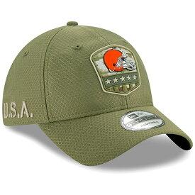 NFL ブラウンズ キャップ/帽子 2019 サルート トゥ サービス サイドライン 9TWENTY ニューエラ/New Era オリーブ