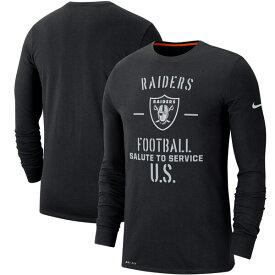 NFL レイダース Tシャツ 2019 サルート トゥ サービス サイドライン パフォーマンス ロング スリーブ ナイキ/Nike ブラック【1911NFL変更】
