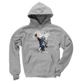 NFL トム・ブレイディ ペイトリオッツ パーカー/フーディー プレーヤー アート コットン 500Level グレー