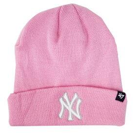 ヤンキース キャップ MLB ニットキャップ ニット帽 カフニット 47 Brand ピンク