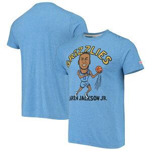 NBA ジャレン・ジャクソン・ジュニア メンフィス・グリズリーズ Tシャツ カリカチュア トライブレンド Homage ライトブルー