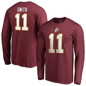 NFL アレックス・スミス レッドスキンズ Tシャツ オーセンティック スタック ネーム & ナンバー ロングスリーブ バーガンディ