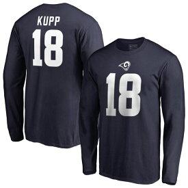 NFL クーパー・カップ ラムズ Tシャツ オーセンティック スタック ネーム & ナンバー ロングスリーブ ネイビー