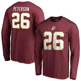 NFL エイドリアン・ピーターソン レッドスキンズ Tシャツ オーセンティック スタック ネーム & ナンバー ロングスリーブ バーガンディ