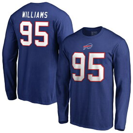NFL カイル・ウィリアムズ ビルズ Tシャツ オーセンティック スタック ネーム & ナンバー ロングスリーブ ロイヤル
