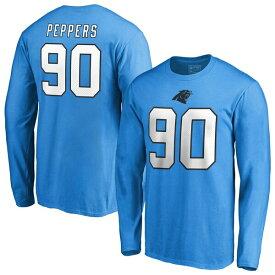 NFL ジュリアス・ペパーズ パンサーズ Tシャツ オーセンティック スタック ネーム & ナンバー ロングスリーブ ブルー