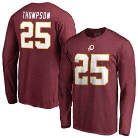 NFL クリス・トンプソン レッドスキンズ Tシャツ オーセンティック スタック ネーム & ナンバー ロングスリーブ ガーネット