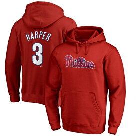 MLB ブライス・ハーパー フィリーズ パーカー/フーディー ネーム & ナンバー プルオーバー マジェスティック/Majestic レッド