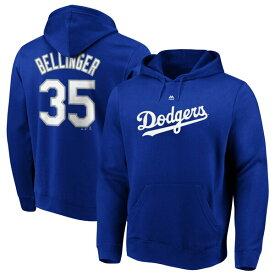 MLB コディ・ベリンジャー ドジャース パーカー/フーディー ネーム & ナンバー プルオーバー マジェスティック/Majestic ロイヤル