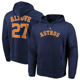 MLB ホセ・アルテューベ アストロズ パーカー/フーディー ネーム & ナンバー プルオーバー マジェスティック/Majestic ネイビー