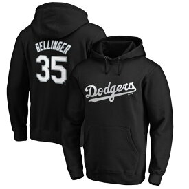MLB コディ・ベリンジャー ドジャース パーカー/フーディー ネーム & ナンバー プルオーバー マジェスティック/Majestic ブラック