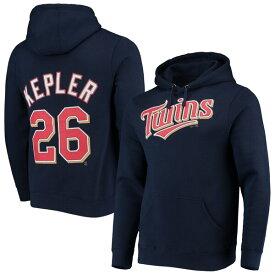 MLB マックス・ケプラー ツインズ パーカー/フーディー ネーム & ナンバー プルオーバー マジェスティック/Majestic ネイビー