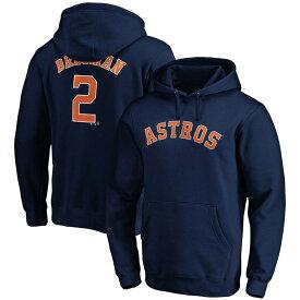 MLB アレックス・ブレグマン アストロズ パーカー/フーディー ネーム & ナンバー プルオーバー マジェスティック/Majestic ネイビー