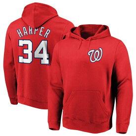 MLB ブライス・ハーパー ナショナルズ パーカー/フーディー ネーム & ナンバー プルオーバー マジェスティック/Majestic レッド
