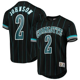 NBA ラリー・ジョンソン シャーロット・ホーネッツ Tシャツ プレーヤー ネーム & ナンバー ミッチェル&ネス/Mitchell & Ness ブラック