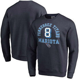 NFL マーカス・マリオタ タイタンズ スウェットシャツ/トレーナー ネーム & ナンバー クルー プルオーバー ネイビー