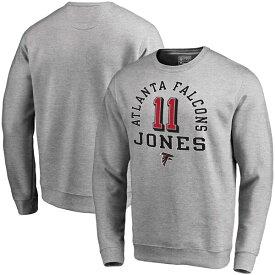 NFL フリオ・ジョーンズ ファルコンズ スウェットシャツ/トレーナー ネーム & ナンバー クルー プルオーバー グレー