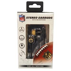 NFL セインツ Stereo Earbuds イヤホン/ヘッドフォン Mizco