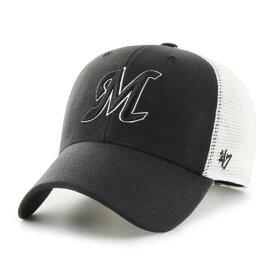 千葉ロッテマリーンズ グッズ キャップ/帽子 サイドプリントメッシュ '47 MVP 47 Brand ブラック