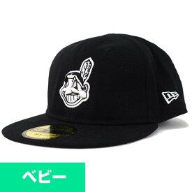 MLB クリーブランド・インディアンス キャップ/帽子 My 1st 59FIFTY ニューエラ/New Era ブラック/ホワイト