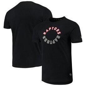 NBA トロント・ラプターズ Tシャツ Brushed Jersey Wordmark Reflection Applique T-Shirt ニューエラ/New Era ブラック