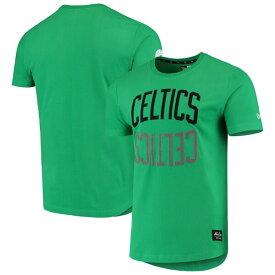 NBA ボストン・セルティックス Tシャツ Brushed Jersey Wordmark Reflection Applique T-Shirt ニューエラ/New Era ケリーグリーン