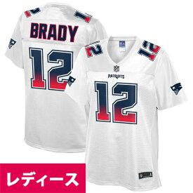 NFL トム・ブレイディ ペイトリオッツ ユニフォーム/ジャージ レディース Fade Fashion Jersey ホワイト