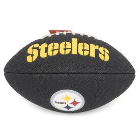 NFL スティーラーズ 9 Mini Soft Touch Football Wilson ブラック