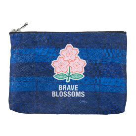 RUGBY Brave Blossoms ラグビー日本代表 ブレイブブロッサムズ ファスナーポーチ(2nd) JUSTICE