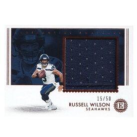 NFL ラッセル・ウィルソン シーホークス トレーディングカード 2018 Encased Substantial Swatches Card 15/50 Panini