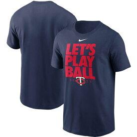 MLB 前田健太選手 所属 ミネソタ・ツインズ Tシャツ Let's Play Ball T-Shirt ナイキ/Nike ネイビー