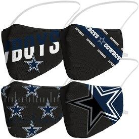 NFL カウボーイズ Adult Variety Face Covering 4-Pack 大人用 ファッションマスク 4枚パック