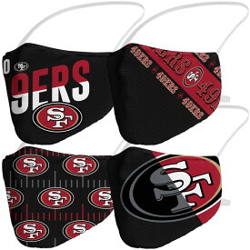 NFL 49ers マスク ファッションマスク Adult Variety Face Covering 4-Pack 大人用 4枚パック