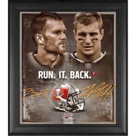 NFL トム・ブレイディ & ロブ・グロンコウスキー バッカニアーズ Framed 15 x 17 Run It Back Collage