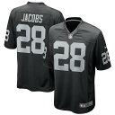 NFL ジョッシュ・ジェイコブス レイダース ユニフォーム/ジャージ Game Jersey ナイキ/Nike ブラック