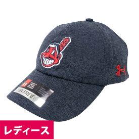 MLB クリーブランド・インディアンス キャップ/帽子 レディースAdjustable Hat ワフー酋長 アンダーアーマー/UNDER ARMOUR ネイビー