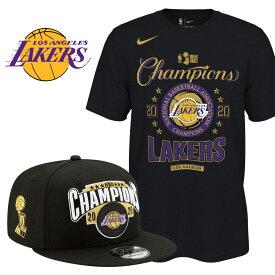 ご予約 レイカーズ NBAファイナル2020 優勝記念 ロッカールーム Tシャツ&キャップ