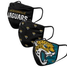 ジャガーズ マスク NFL フェイスマスク フェイスカバー 大人用 3枚パック ジャクソンビル